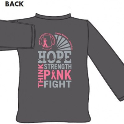 "Gray ""Think Pink"" Long Sleeve Shirt"